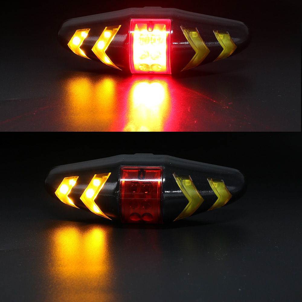 Wireless Bicycle Bike Rear LED Tail Lights Turn Signal Lamp Remote Control Fast