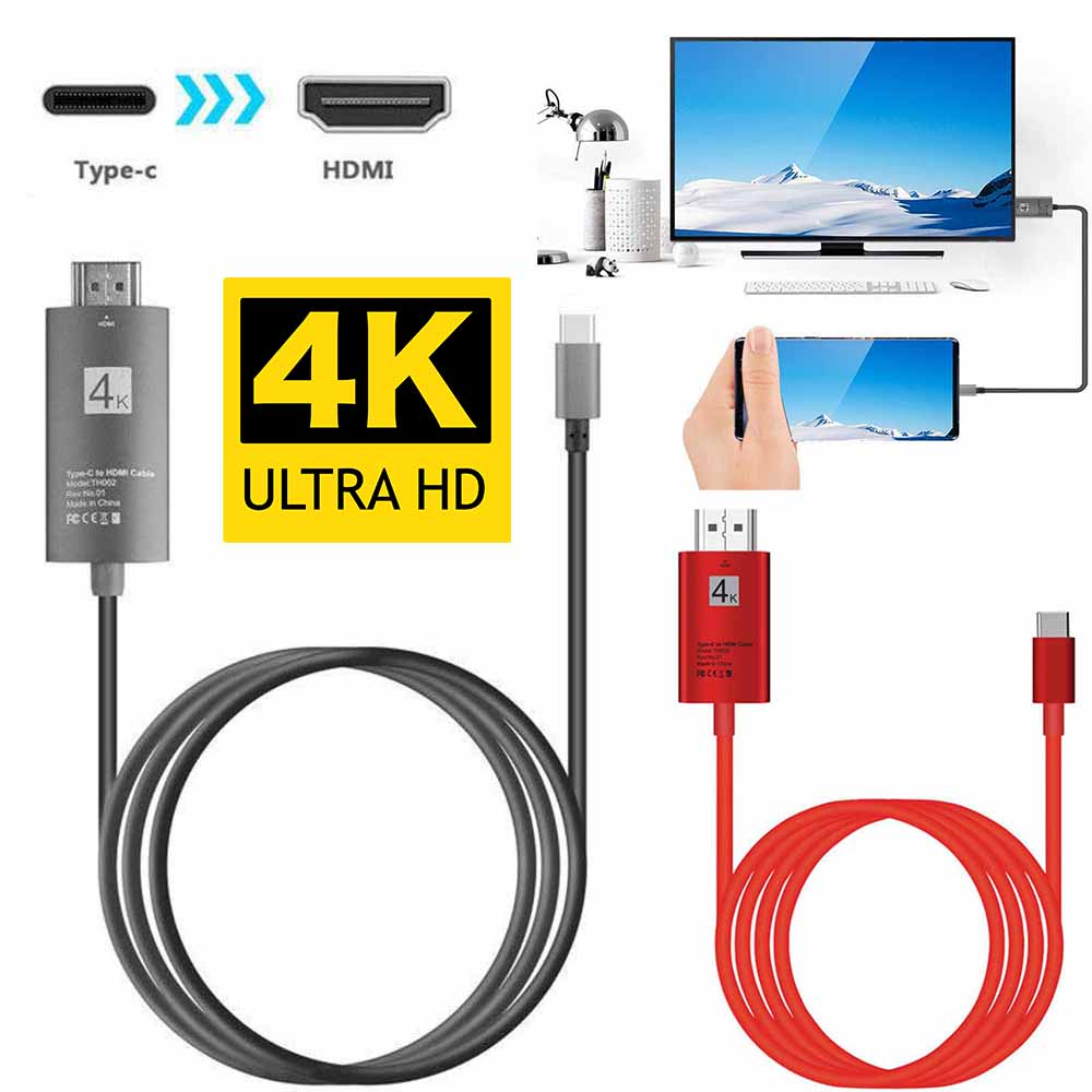 USB Type-C USB-C to 4K HDMI HDTV Adapter HDMI Cable For Samsung Galaxy Note 9 8