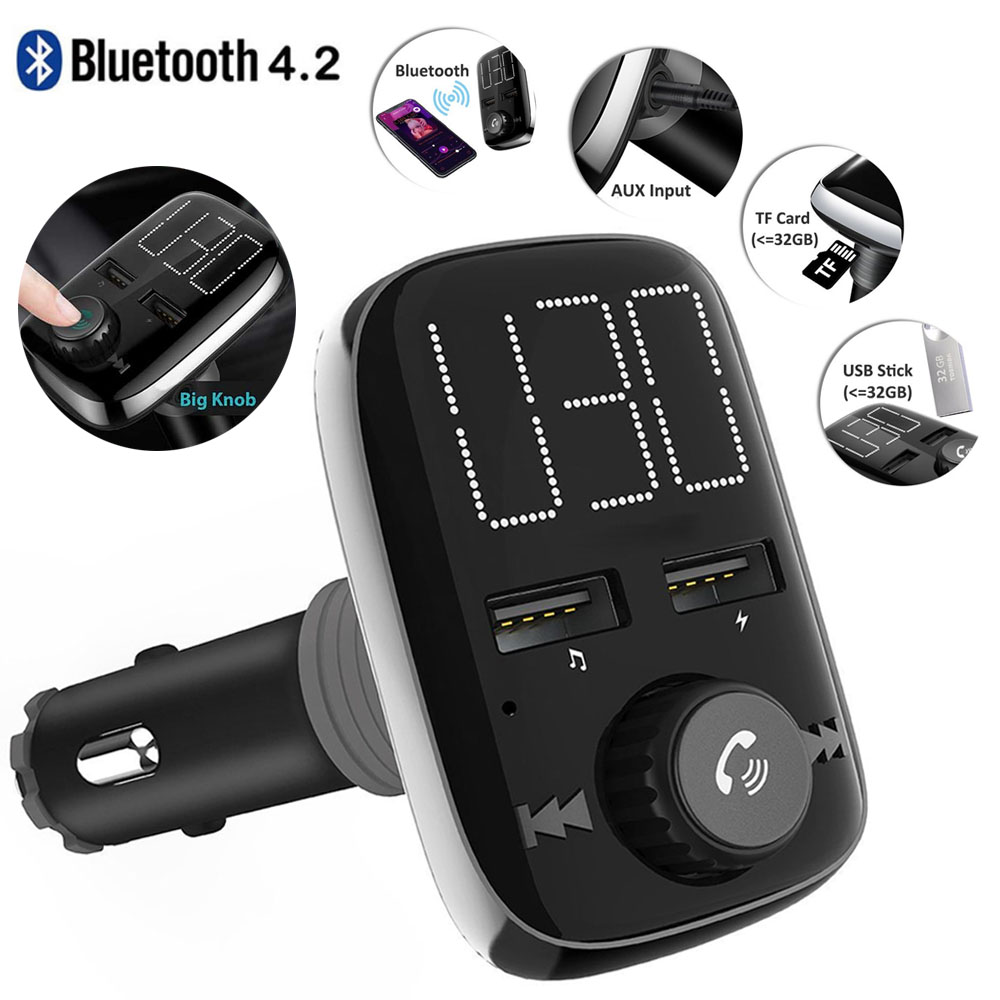 bluetooth fm transmitter kfz auto radio adapter. Black Bedroom Furniture Sets. Home Design Ideas