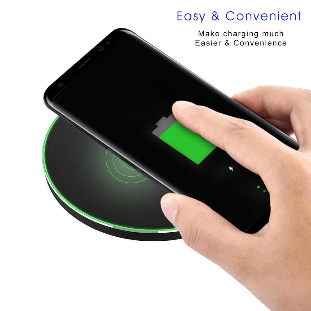 qi wireless charger schnelles ladeger t f r ladestation. Black Bedroom Furniture Sets. Home Design Ideas