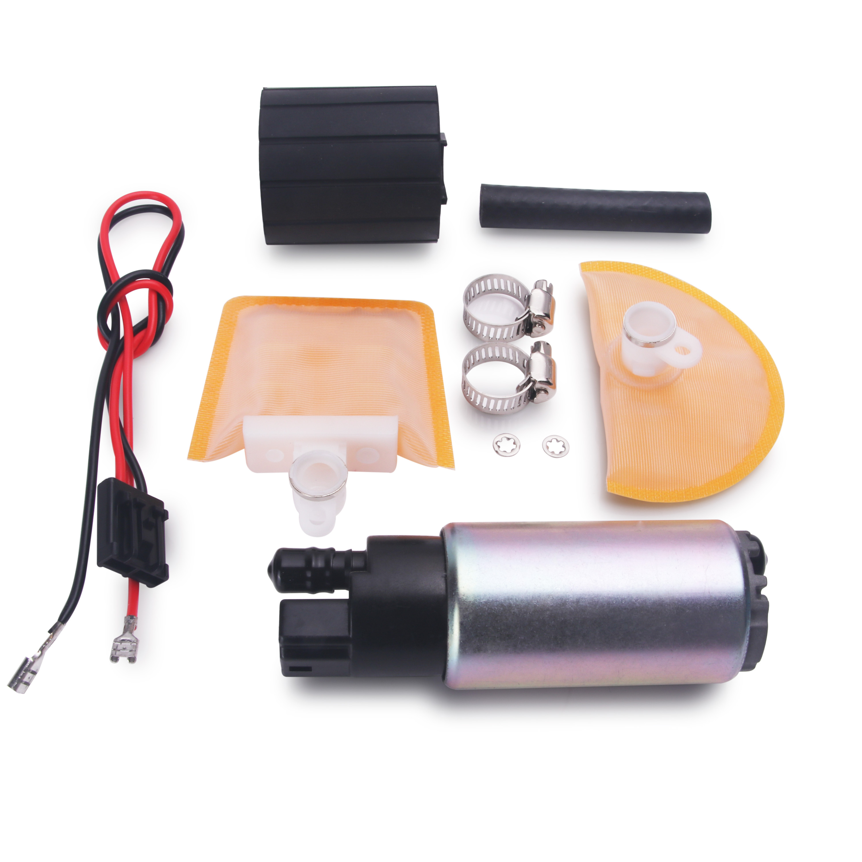 New 255LPH High Pressure /& High Flow Fuel Pump With Install Kit GSS342