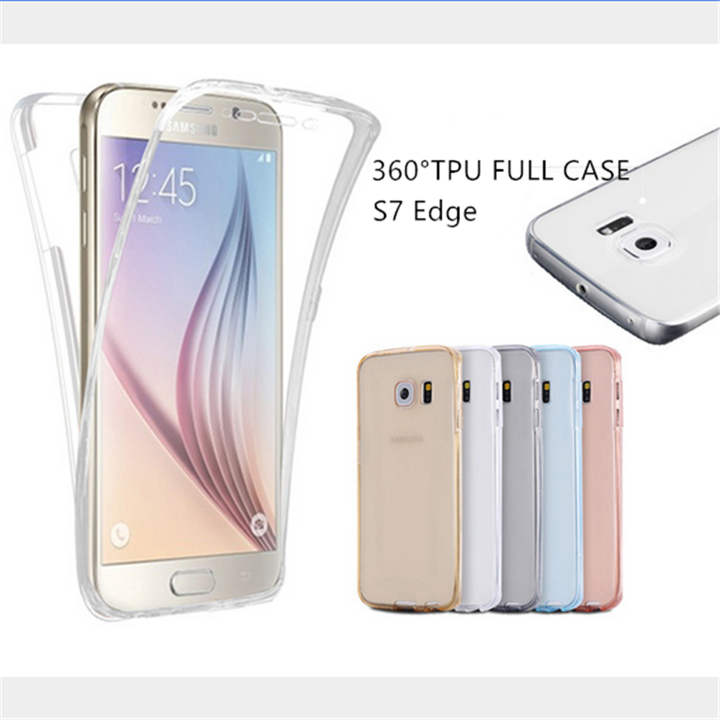 low priced 5f6f9 c9afe Details about 360 Full Body Shockproof Clear Soft TPU Case Cover For  Samsung Galaxy S7 S7 Edge