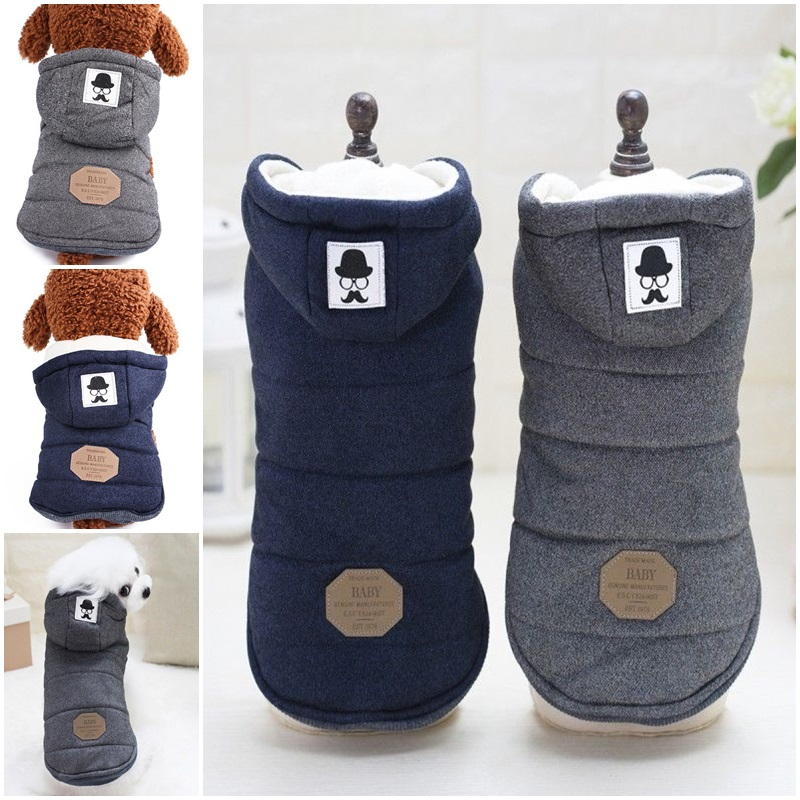 Winter Dog Coats Pet Cat Puppy Chihuahua Clothes Hoodie Warm for Small Dog S~XXL 5