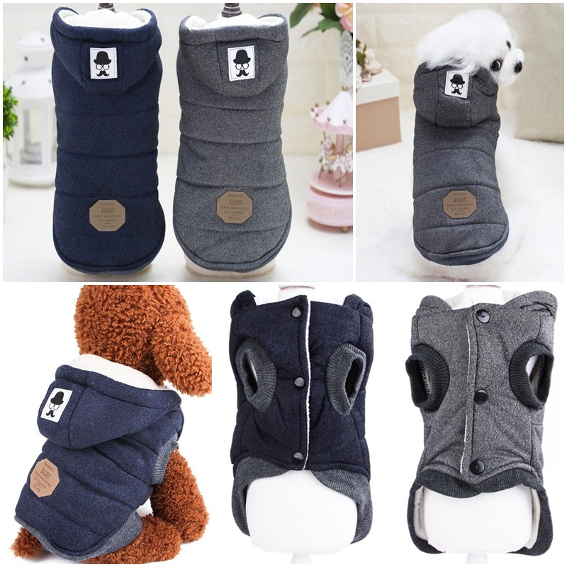 Winter Dog Coats Pet Cat Puppy Chihuahua Clothes Hoodie Warm for Small Dog S~XXL 8