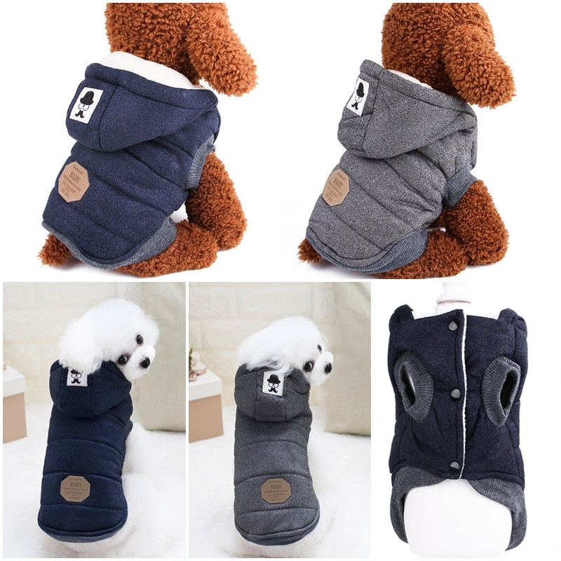 Winter Dog Coats Pet Cat Puppy Chihuahua Clothes Hoodie Warm for Small Dog S~XXL 6