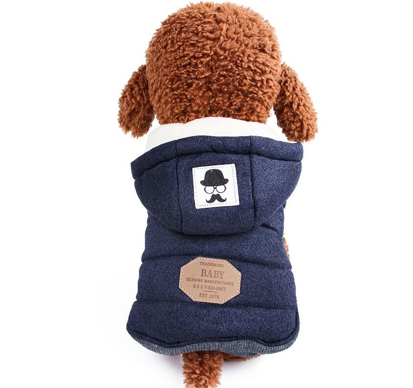Winter Dog Coats Pet Cat Puppy Chihuahua Clothes Hoodie Warm for Small Dog S~XXL 11