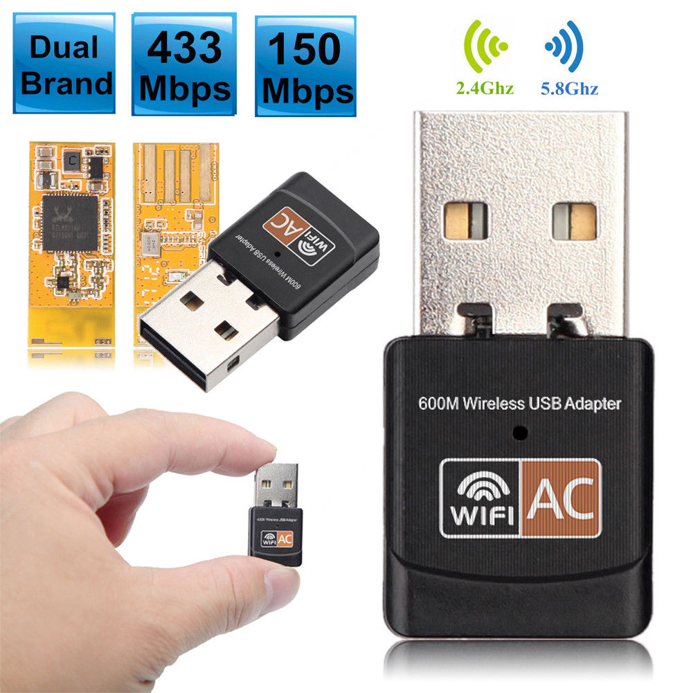 Mini Wireless USB Adapter 2.4GHz Wi-Fi Dongle 802.11 AC 150 Mbps for Laptop PC