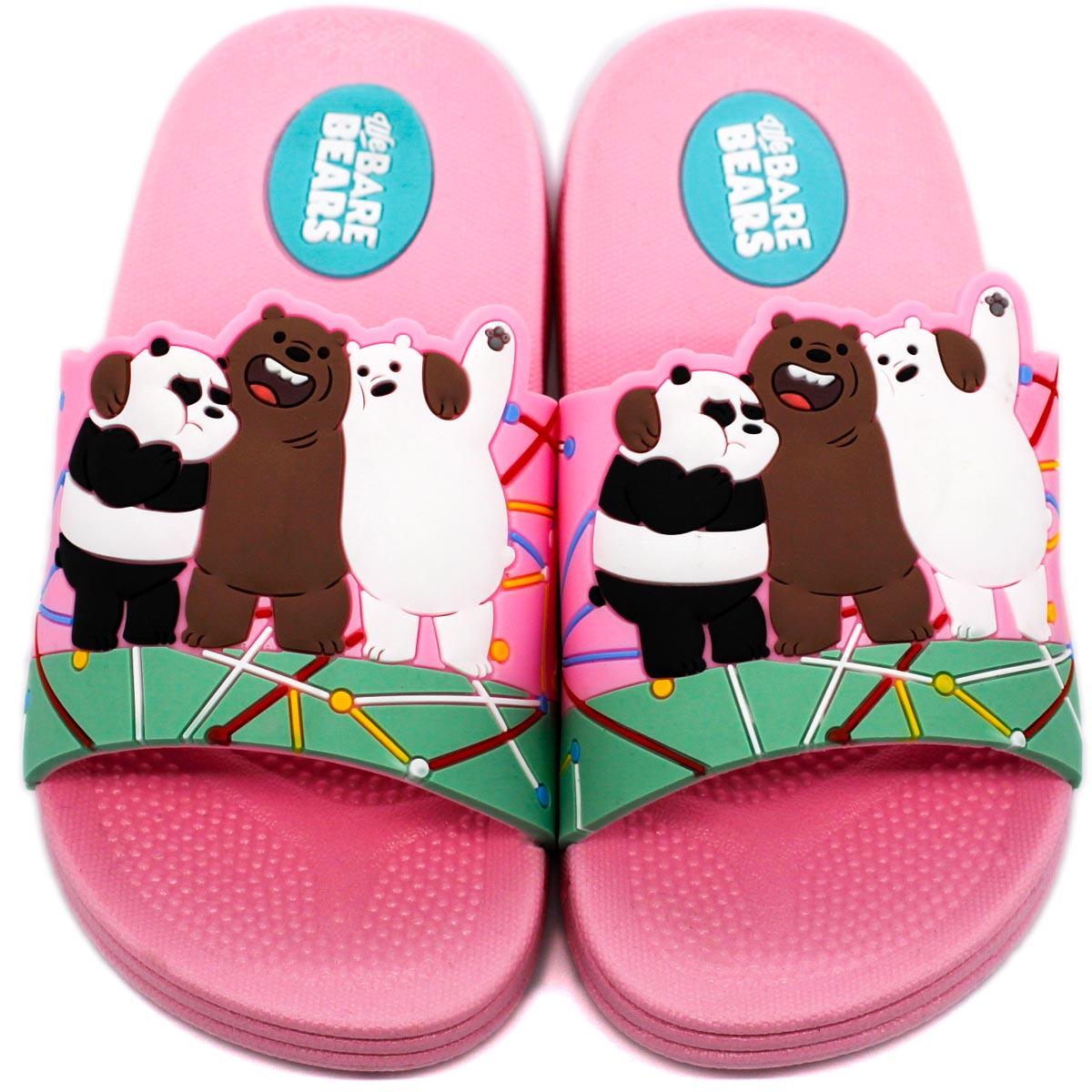 MINISO Slippers Kids Beach Slipper Shoes Flip Flops We Bare Bears ...