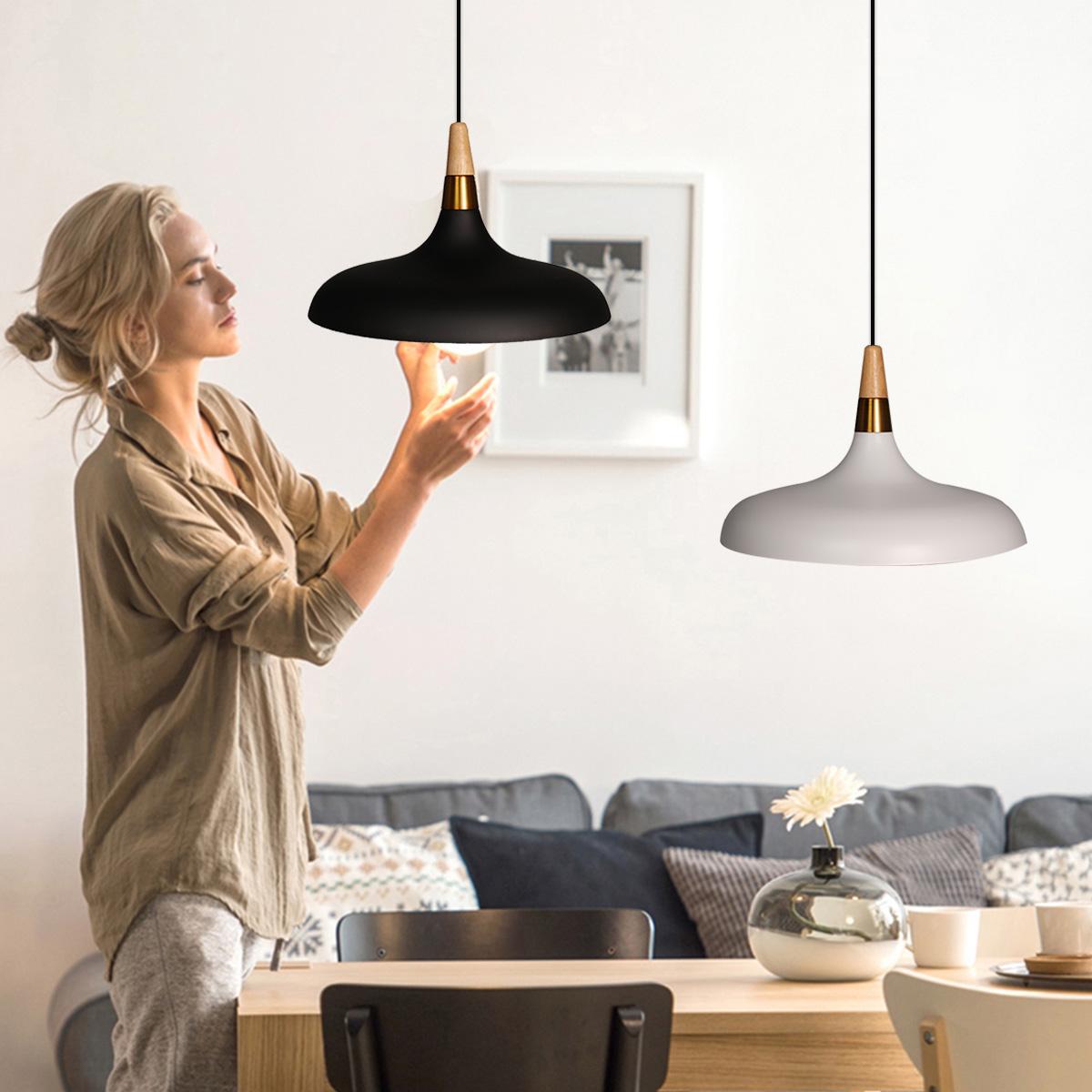 Morden Pendan Ceiling Light Fixture Wood Hanging Lamp