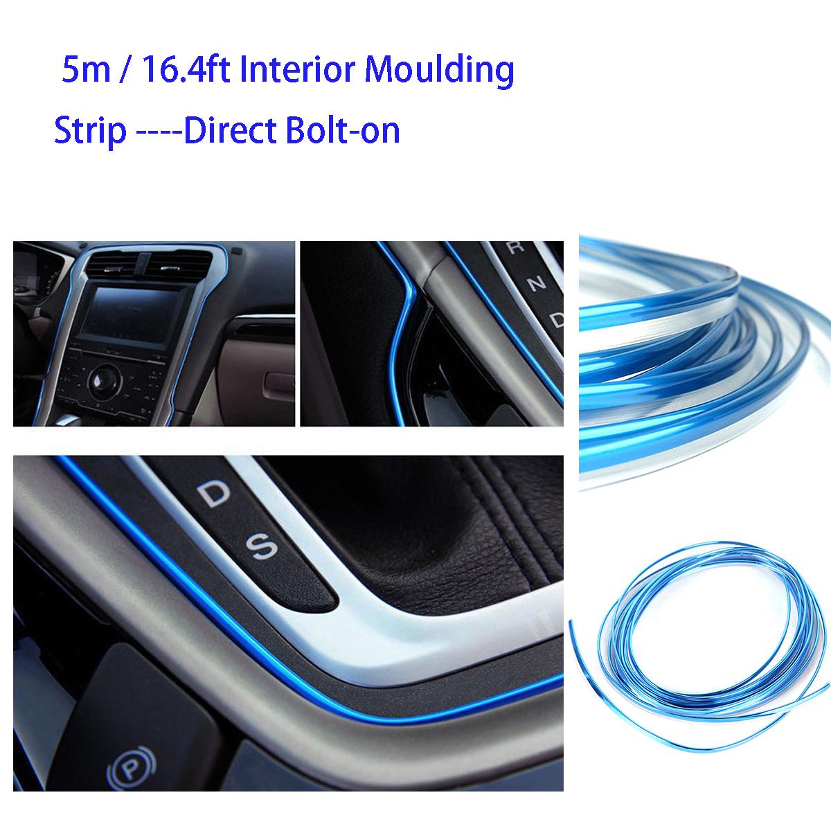 Trim U Style Chrome Car Moulding Strip Grille Line Door Edge Guard Auto 20FT