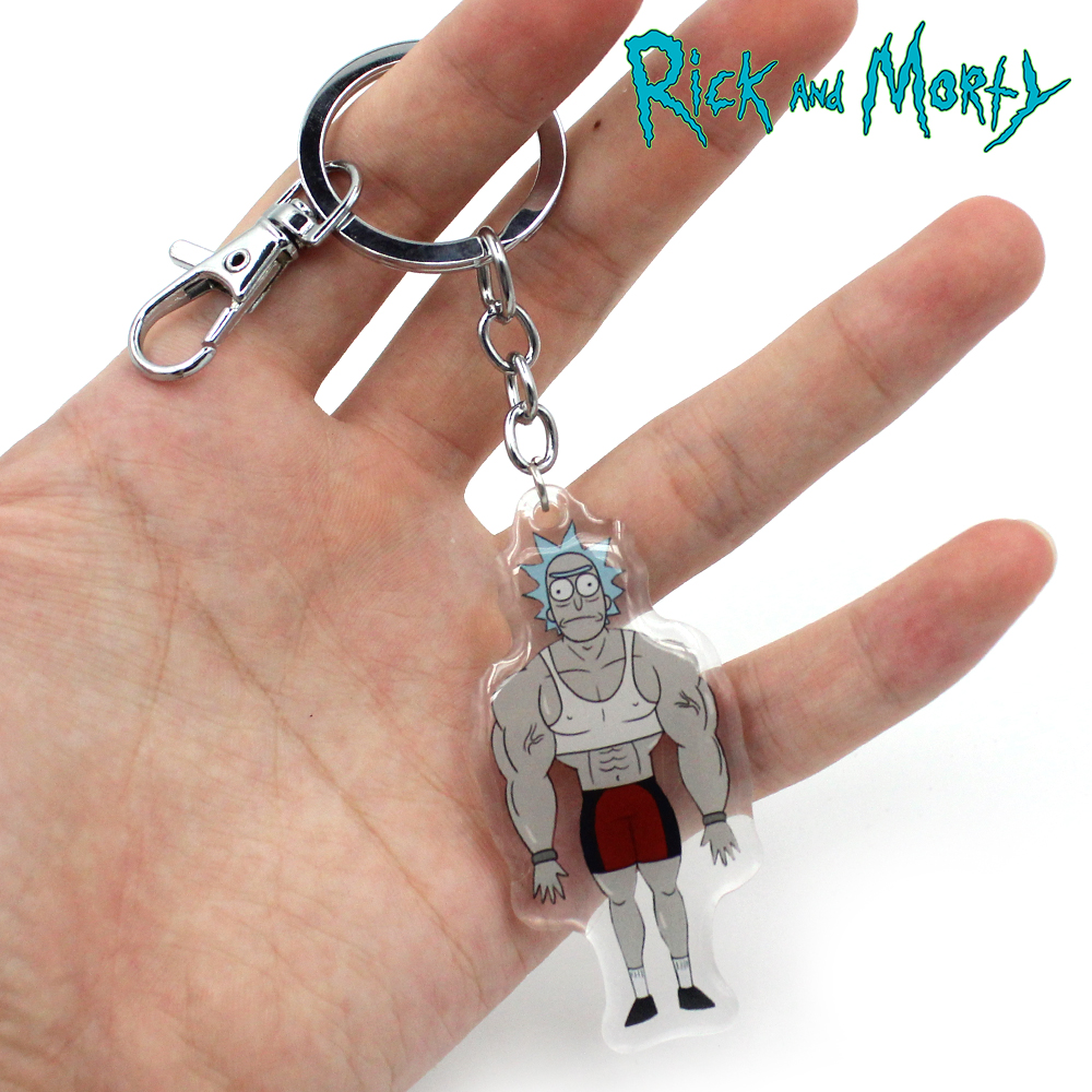 Pickle-Rick-and-Morty-Keychain-Keyring-Pendants-Cosplay-Collect-PVC-Keychains
