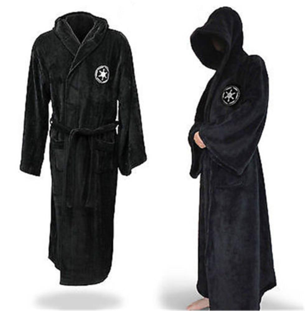 2dce2db245 Men Star Wars Fleece Men Bath Robe Jedi Knight Sith Hooded Bathrobe Pajama  Cloak