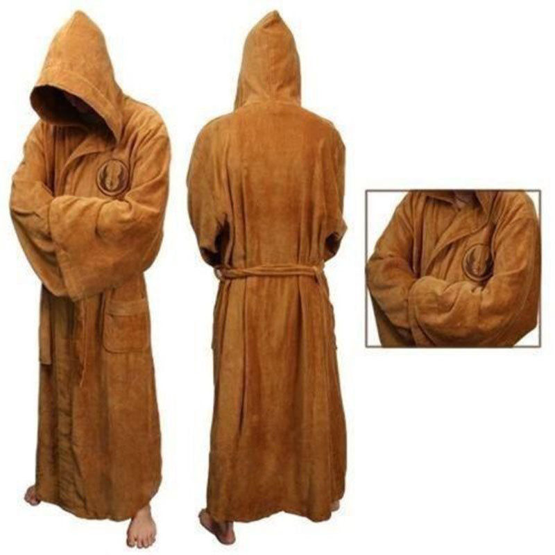 Flannel Robe With Hooded Star Wars Dressing Gown Jedi Empire ...