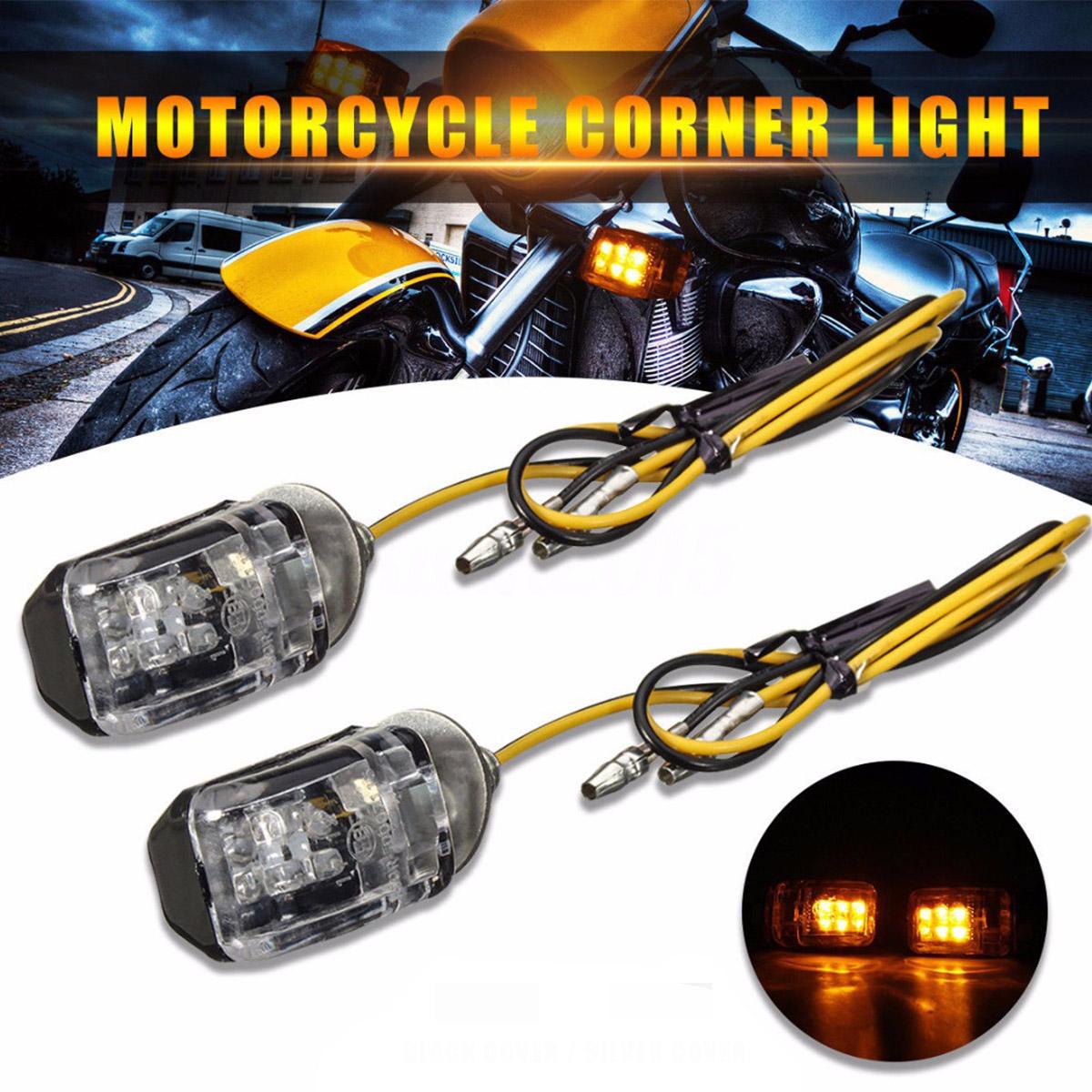 2X Turn Signal LED Motorcycle Light Blinker Indicator Mini For Honda Kawasaki