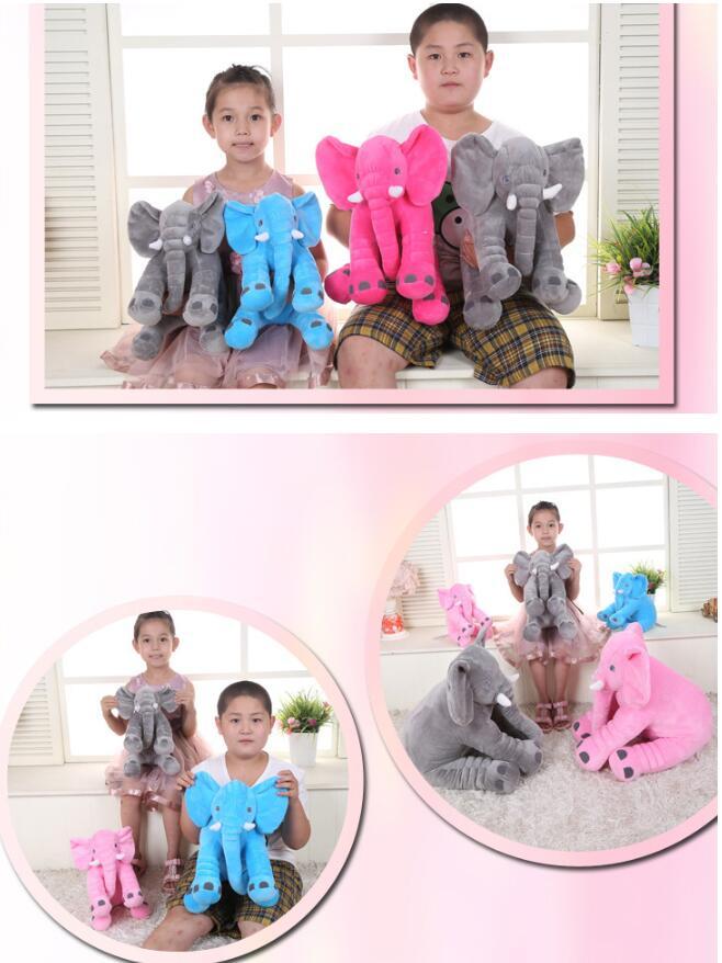 Puppen Süß Elefant Plüschpuppe Kissen Tier Puppe Stoffpuppe Schlafzimmer Sofa   Dekorat
