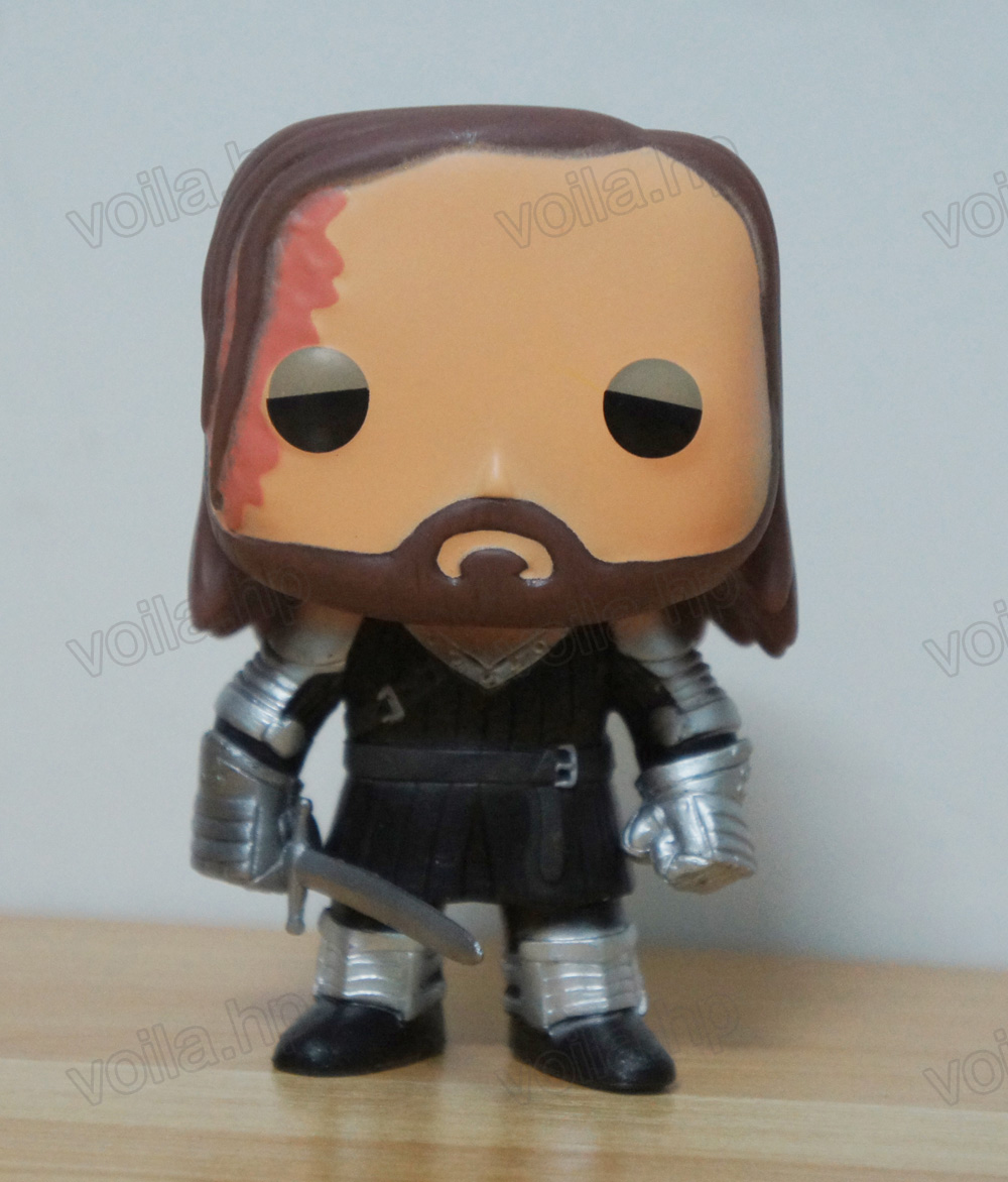 TV Show Game of Thrones Toy The Hound #05 PVC Figure With Box /& POP Protector