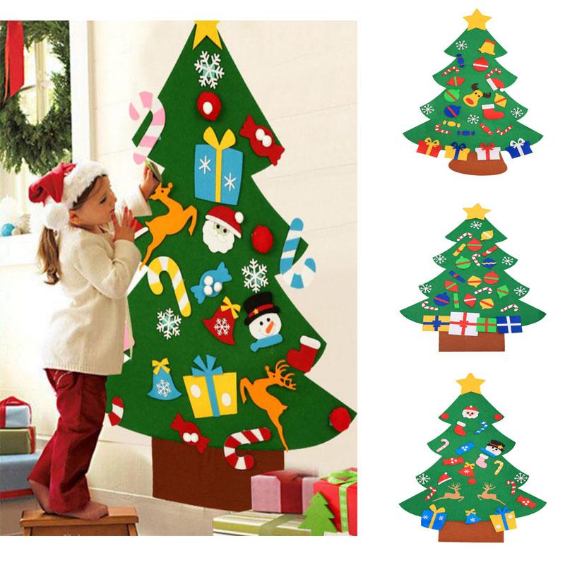 Christmas Felt Tree with Ornaments Wall Hanging Kid Childrens DIY Craft Kit 95CM