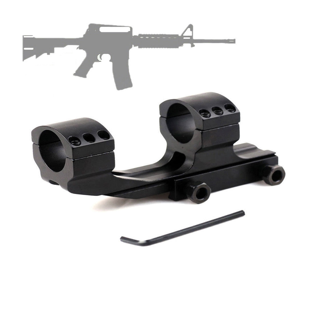 """PEPR 1/""""25.4mm Tactical Cantilever Flat Top Rifle Scope Mount Dual Ring Picatiiny"""