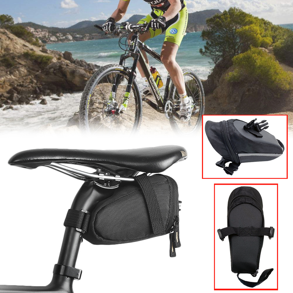 1 Pc Bicycle  Waterproof Storage Saddle Bag Bike Seat Cycling Rear Pouch Outdoor