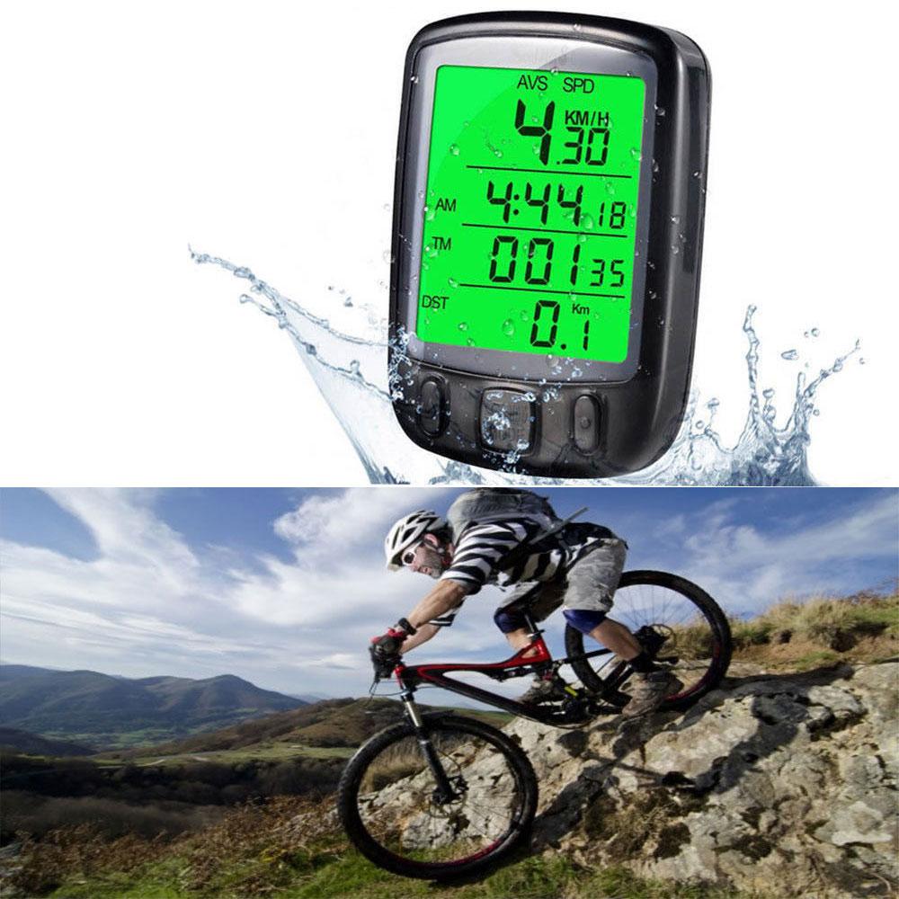 Waterproof LCD Cycle Bicycle Bike Computer Odometer Speedometer Cycling US
