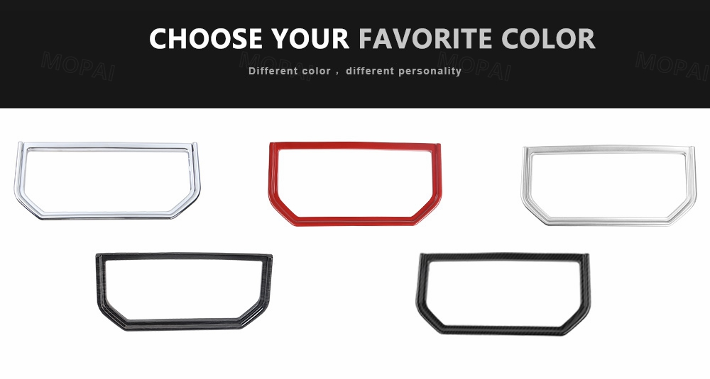 silver center central armrest box cup holder trim frame