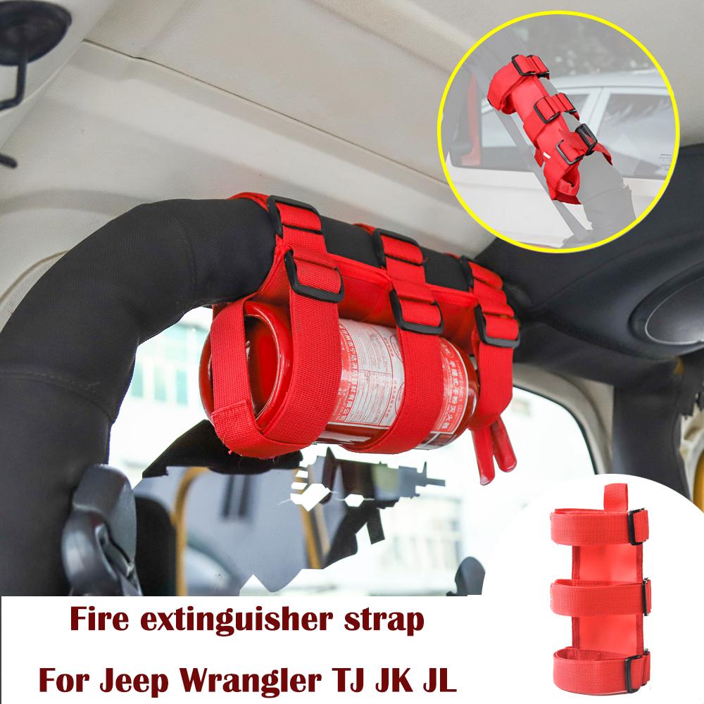 1 Pcs Fire Extinguisher Holder Roll Bar For Jeep Wrangler TJ YJ JK CJ Adjustable