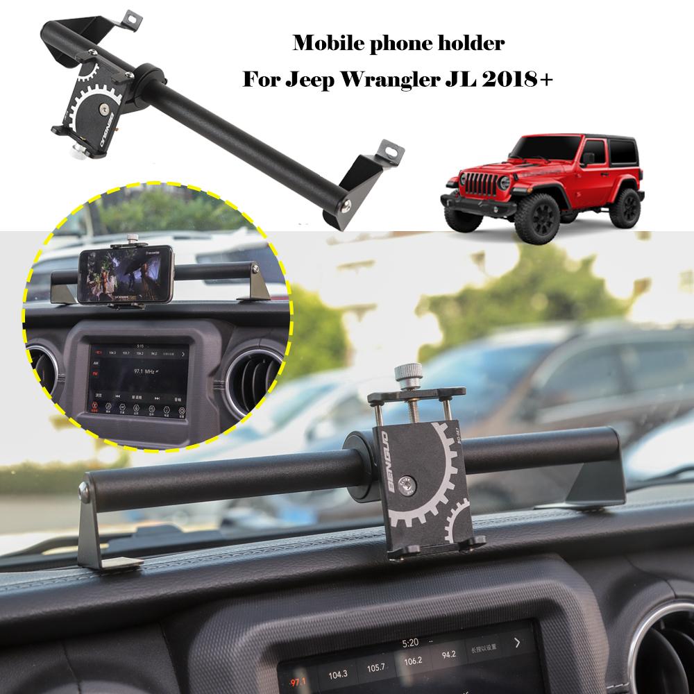 Iron Mobile Cell Phone Holder Bracket Dash Mount For Jeep Wrangler JL 2018 2019