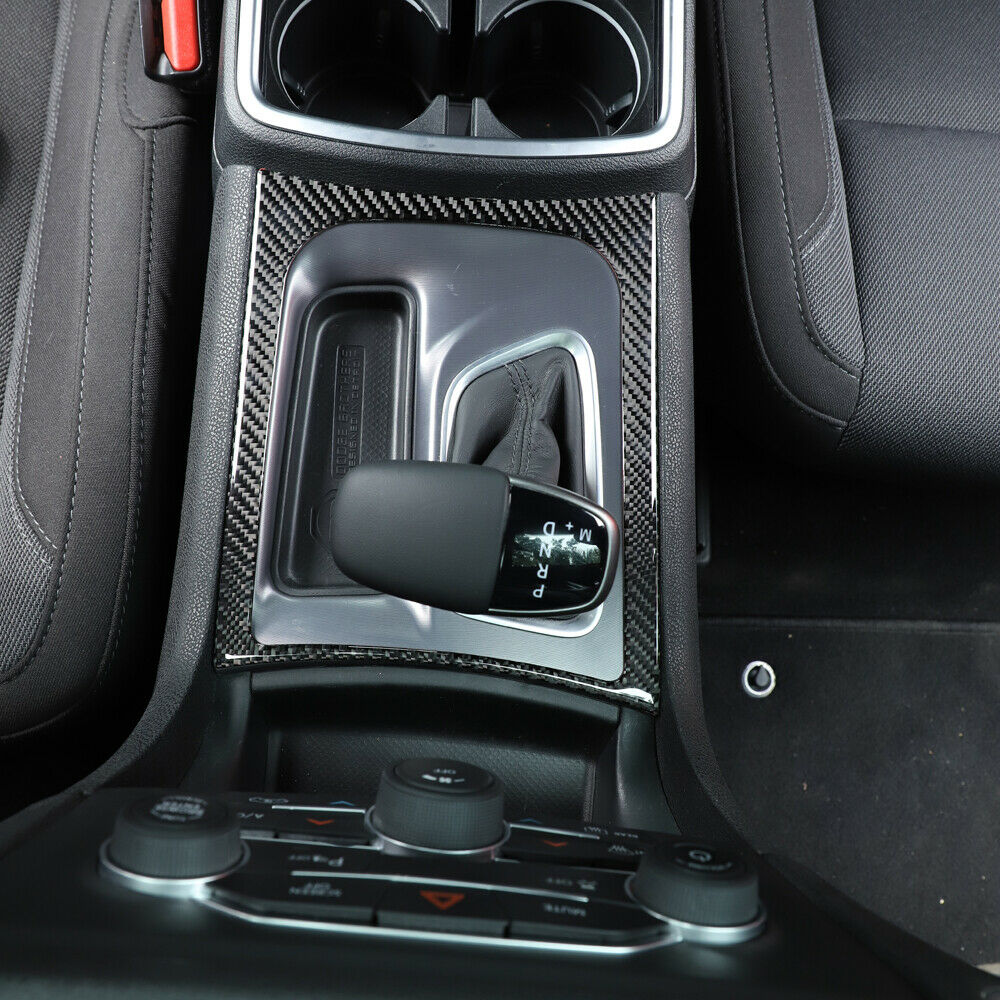 AIRSPEED Car Center Control Gear Shift Panel Frame Cover /& Storage Box Sticker Carbon Fiber Inner Trim Accessories for Dodge Charger 2015-2020 Black