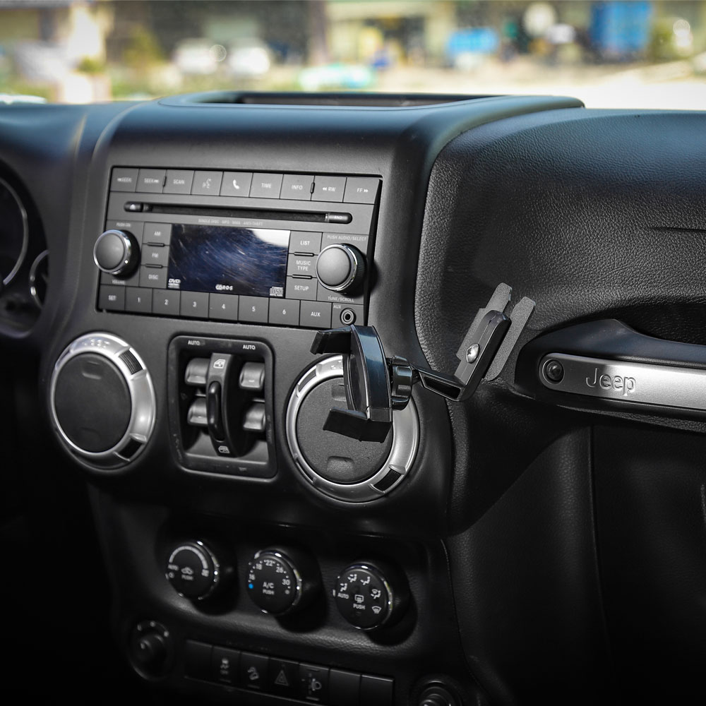 Car Cell Phone Bracket Dash Mount Holder For Jeep Wrangler Jk 07 17 Accessories