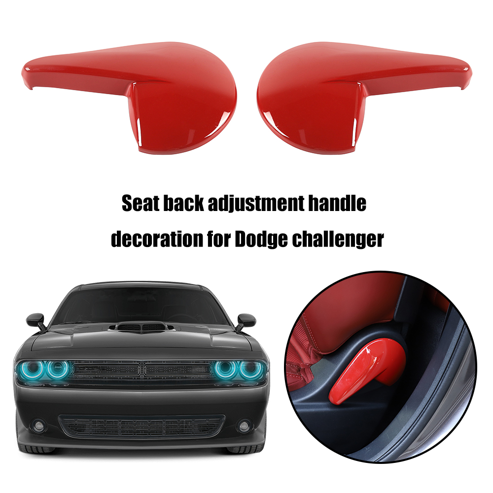 3pcs Safety Seat Latch Cover Decoration Trim Ring for Dodge Challenger 2015-2019
