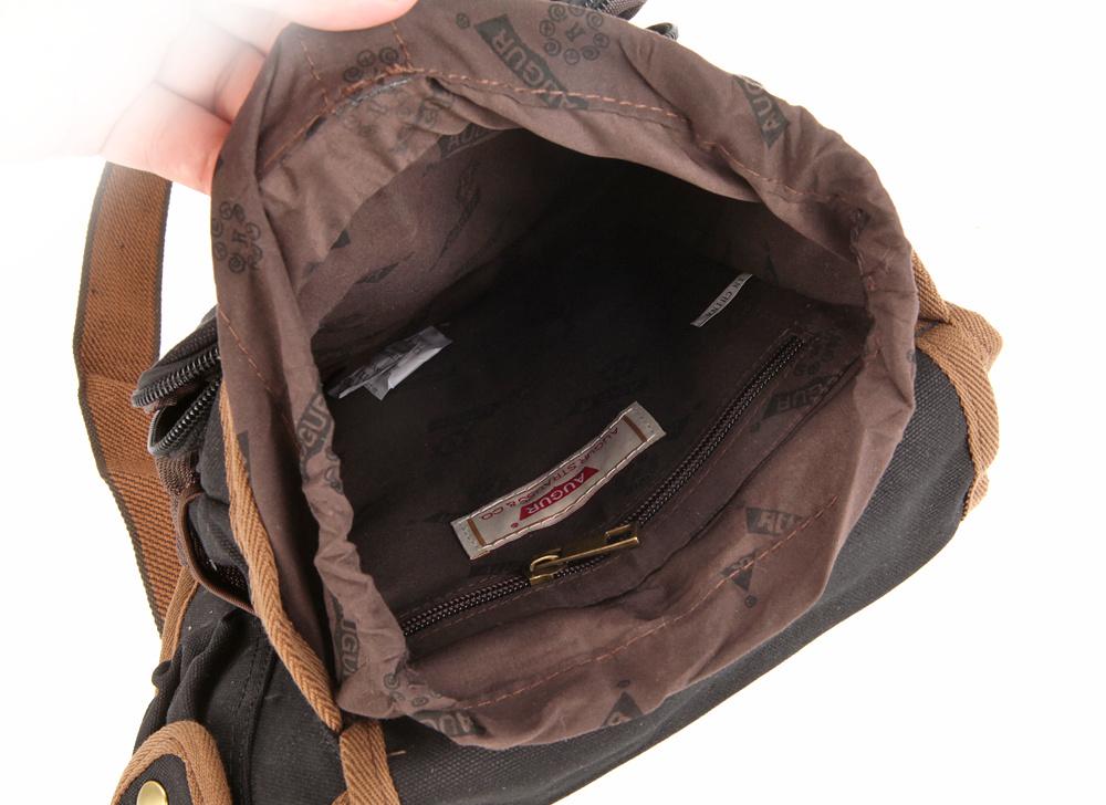 Military Mens Shoulder Messenger Bag Men leather Sling Crossbody ...