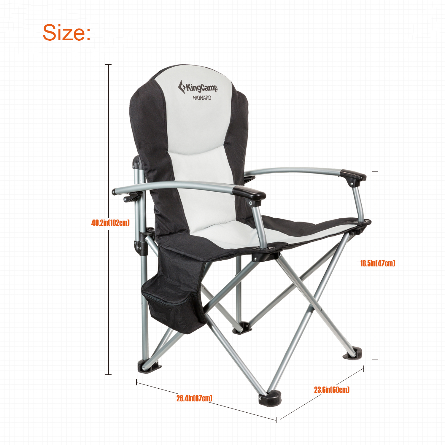 NEW Heavy Duty Folding Camping Chair High Back Beach Directors