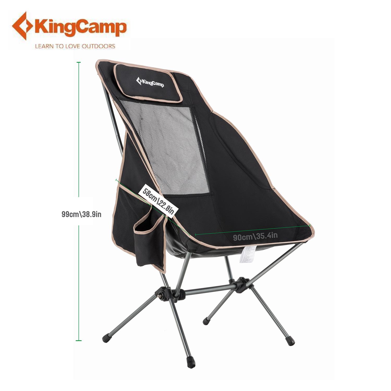 Kingcamp Folding Camp Chair High Back Adjustable