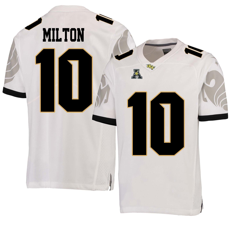 new style b8c06 0efdf Detalles acerca de UCF Caballeros McKenzie Milton Jersey #10 Cosido Ncaa  Football uniforme de colegio- mostrar título original