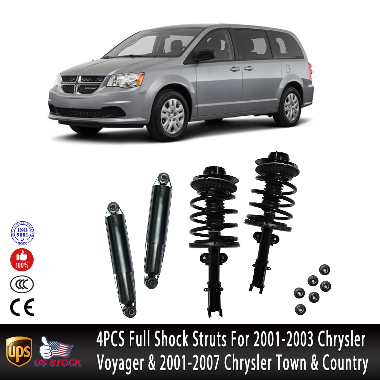 Quick Complete Struts /& Gas Shocks 2001-2007 Dodge Caravan Front /& Rear Set