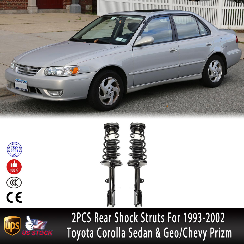 Rear Right Strut Shock Spring Kit Fit 93-02 Toyota Corolla Chevrolet Geo Prizm
