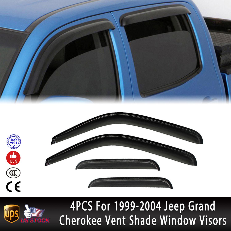 Topline Autopart Sun Wind Rain Giard Vent Shade Smoke Deflectors Window Visors 4P 08-09 Honda Fit Jazz
