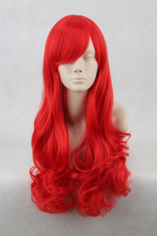 Disney Princess Little Mermaid Ariel Red Wig Long Curly