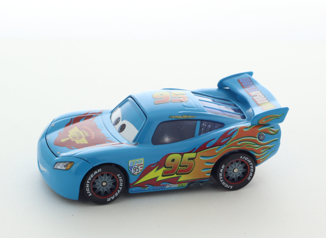 Details About Mattel Disney Pixar Cars 2 Lightning Mcqueen Blue Deco Version