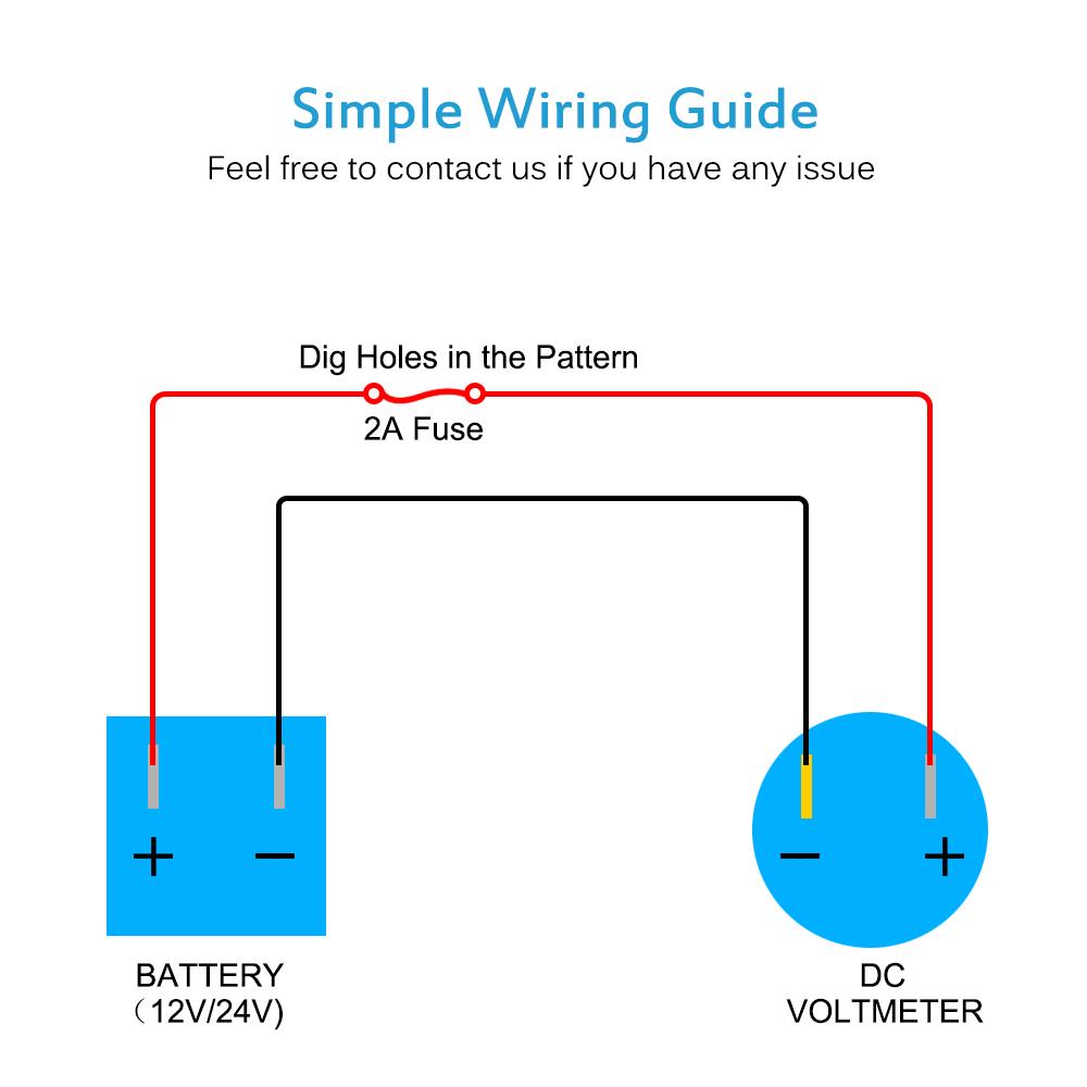 Mictuning Mini Oled Voltmeter 8 60v Dc Led Digital Panel Ip66 Abb Motor Wiring Diagram Voltage Universal