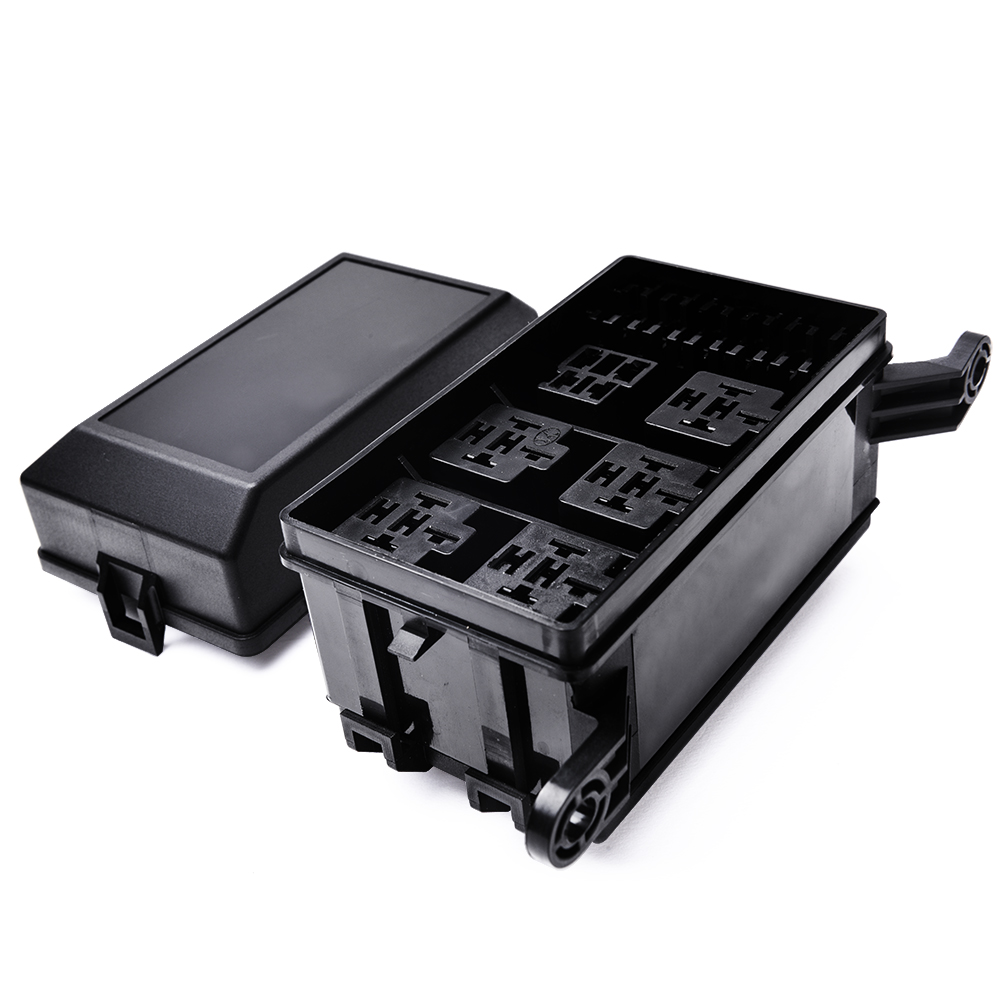 Automotive car fuse relay holder slot box
