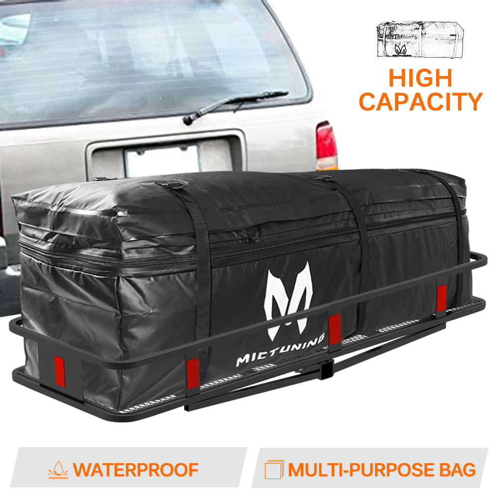 Details About Mictuning Waterproof Expandable Hitch Trays Carrier Cargo Bag For Car Truck Suv