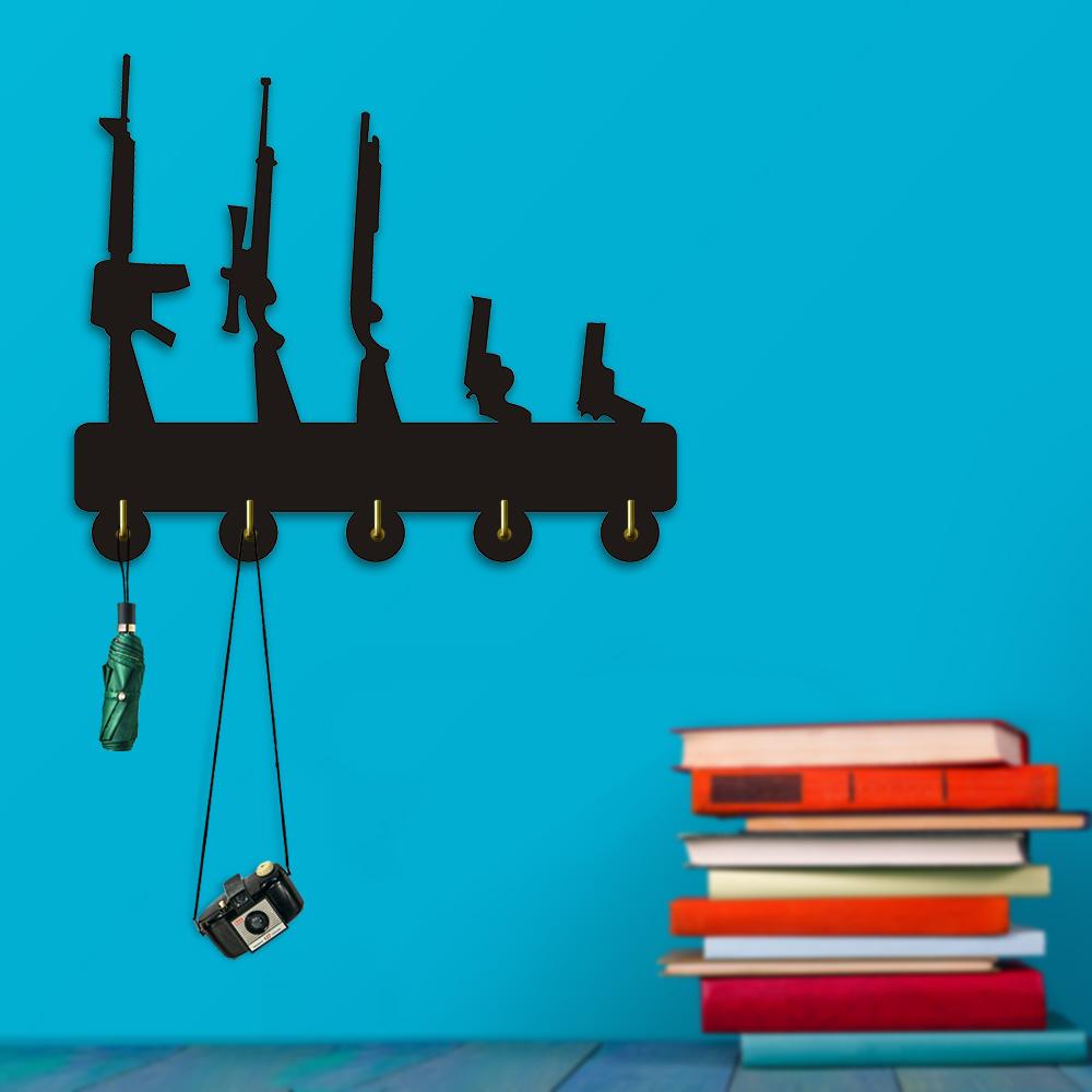 Gun Family Coat Hook Meet My Family Wall Hanger Key Holder Bathroom ...