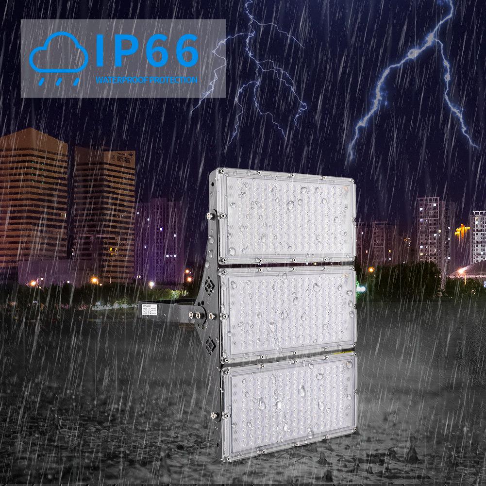 4Pcs 300W LED Flood Light IP66 Warm White Football Field Garden Outdoor Lighting
