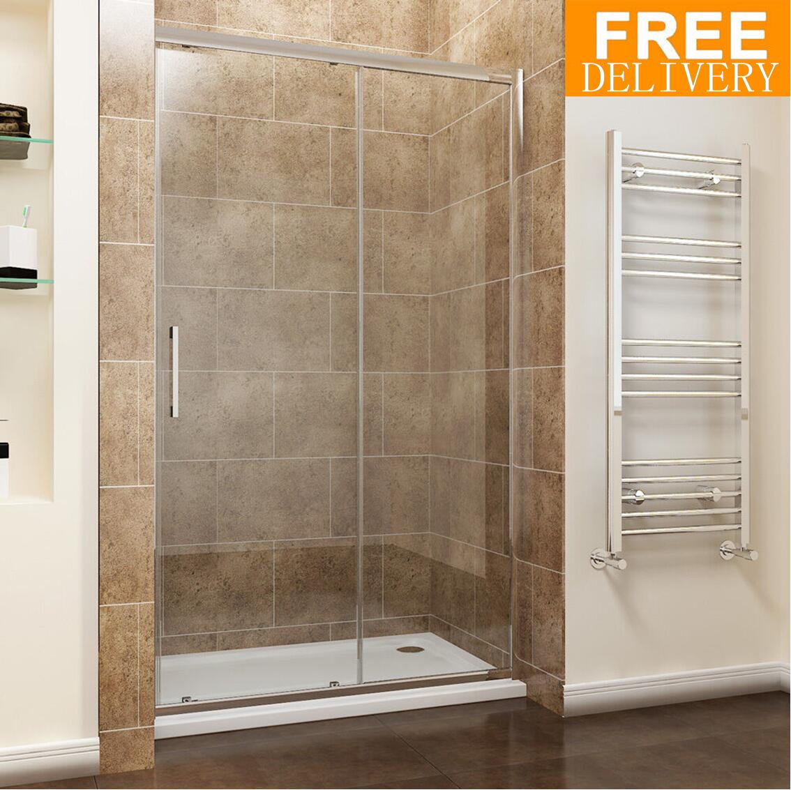 Sliding Walk In Shower Doors.Details About Sliding Shower Door Enclosure Walk In Shower Cubicle 8mm Easy Clean Glass Tall
