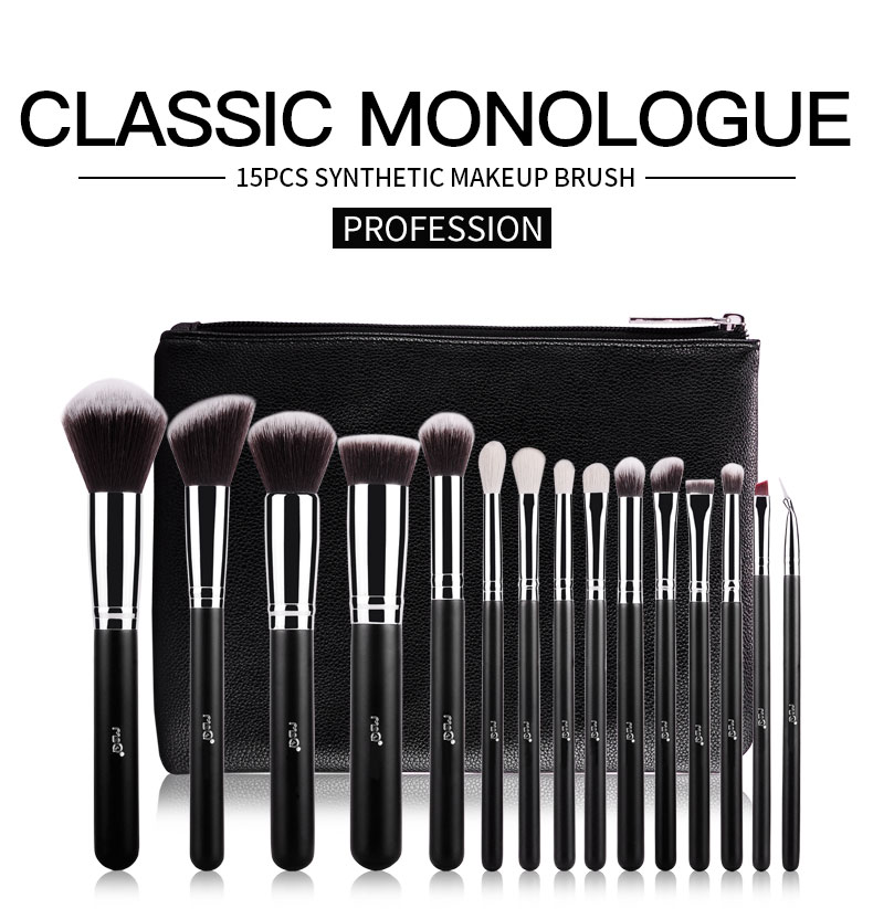 Msq 15tlg Professionelle Kosmetik Pinsel Set Make Up Brush Kit