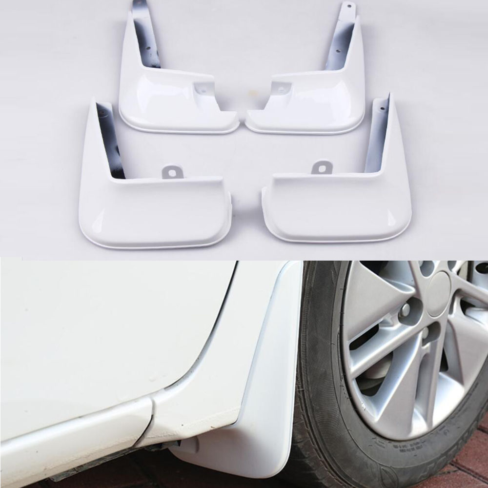 FOR 2015-2018 Toyota Corolla White Mud Flap Flaps Splash Guards Mudguards 4pcs