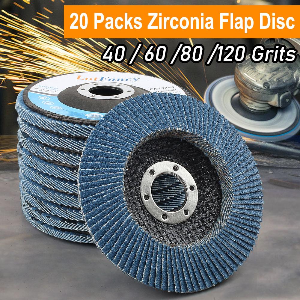 "4.5/"" x 7//8/"" 10 PC High Density Zirconia Flap Grinding Disc80 Grit Bevel T29"