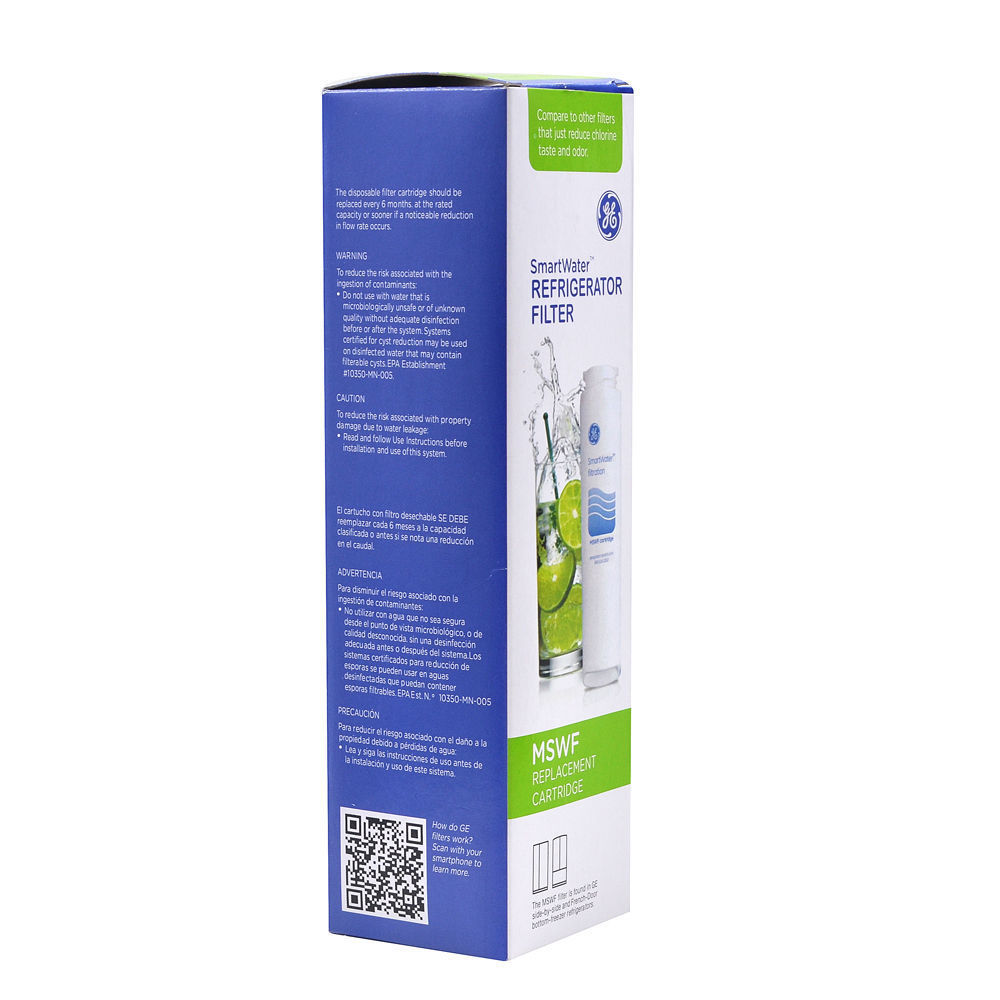 Ge Smartwater Refrigerator Filter Replacement Cartridge Oem Ge Smartwater Refrigerator Filter Mswf Replacement Cartridge