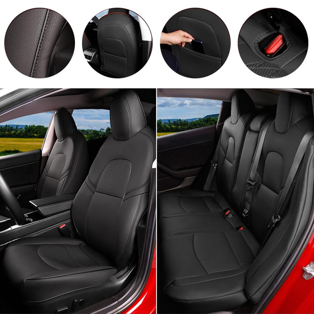 Black Seat Cover Custom For Tesla Model 3 2016-2019 ...